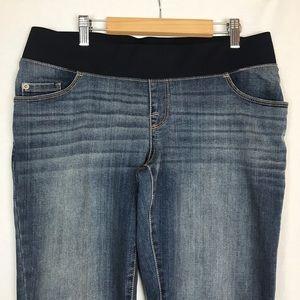 Liz Lange Maternity Boot Cut Stretch Jeans 8 Med